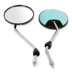 Pair of mirrors for Citycoco scooter - Blue