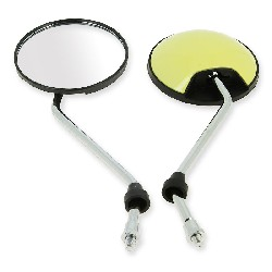 Pair of mirrors for Citycoco scooter - Yellow Pastel