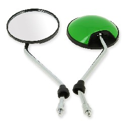 Pair of mirrors for Citycoco scooter - Green