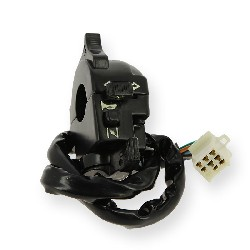 Left Switch Assembly for PBR Skyteam 50 to 125cc (SEMI-AUTO) - Black
