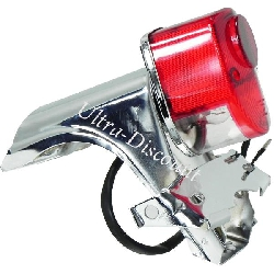 Custom Tail Light for Dax Skyteam Chrome - Red