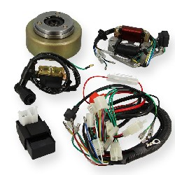 Complete Ignition Kit for Dirt Bike 125cc Starter Motor