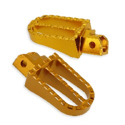 Custom Steel Made Foot Pegs for Dirt Bike - Gold