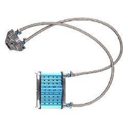 UD Racing Oil Cooler for Dirt Bike - Blue