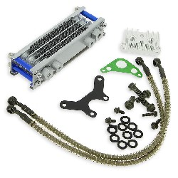 Oil Cooler Dirt Bike - (type 2, Blue)