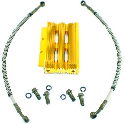 Oil Cooler for Dirt Bike - Yellow