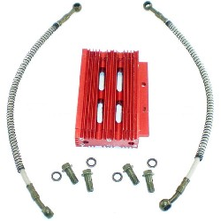 Oil Cooler for Dirt Bike - Red