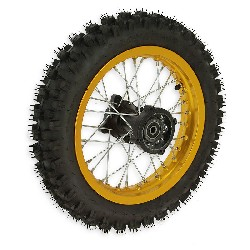 12'' Rear Wheel for Dirt Bike AGB29 - Gold