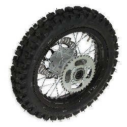 12'' Rear Wheel for Dirt Bike AGB27 12mm Tread Lug Black - Factiry second