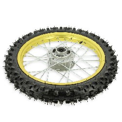 14'' Front Wheel for Dirt Bike AGB27 (10mm Tread Lug) - Gold