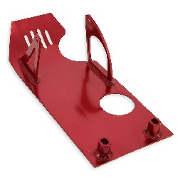 Belly Pan for Dirt Bike with a Starter Motor - Red