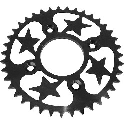 39 Tooth Rear Sprocket - Aluminum Core (type 1 - 420) - Black