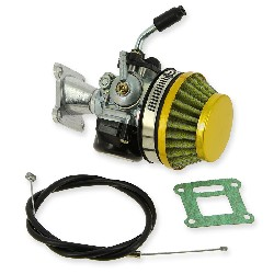 Carburetor 15 Kit  (gold) for Pocket ATV