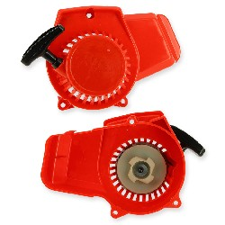 Quick Start Recoil Starter red plastic for Pocket Bike (type 2)