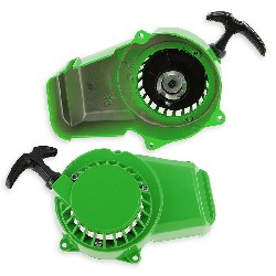 Mini moto Aluminium Pull starter pocket bike - Green