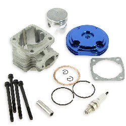 Head Kit 53cc - 4 transfer ports - 12mm axle (type B) - Blue