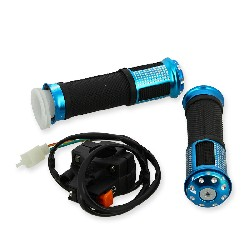 Grip set tuning w- Kill Switch blue for Supermot pocket