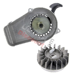 Quick Start Recoil Starter + Flywheel for Cross Pocket Bike