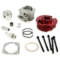 Head Kit 53cc - 4 transfer ports - 10mm axle (type C) - Red