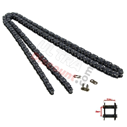 72 Large Links Reinforced Drive Chain for Cross Pocket Bike - TF8
