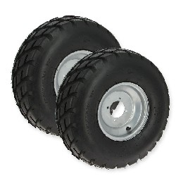 Pair of Front Wheels with Road Tires for ATV JYG Quad 200cc