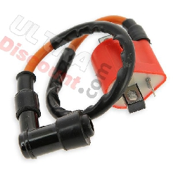 Ignition Coil for ATV Quad 200cc (liquid-cooled) - Red