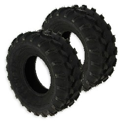 Pair of Front Tires for ATV JYG Quad 200cc - 19x7.00-8