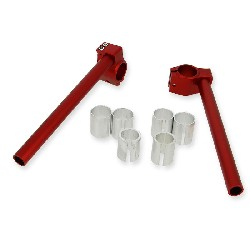 Custom Handle Bars for Pocket Bike (type 3) - Red