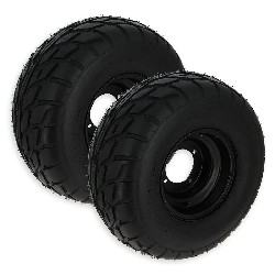 Pair of Rear Wheels with Road Tires for ATV Shineray Quad 200cc STIIE-B