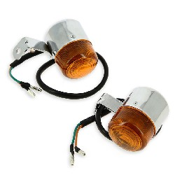 Custom Front - Rear Turn Signal for T-REX 50cc and 125cc Orange