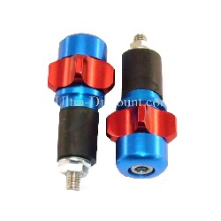 Custom Handlebar End Plugs (type 2) - Red-Deep Blue