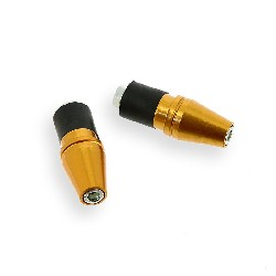 Custom Handlebar End Plugs (type 5) - Gold