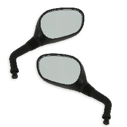 Pair of mirrors for Baotian Scooter BT49QT-12 - Black