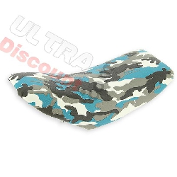 Saddle style camouflage blue for supermoto