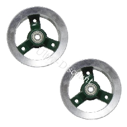 Rear Rim for ATV Pocket Quad (type 1) - Green-Alu