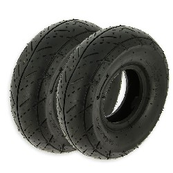 Pair of Road Tires for ATV Pocket Quad - 3.00-4