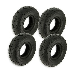 Set of 4 Road Tires 3.50-4 for ATV Pocket Quad