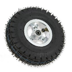Complete front wheel for 3.00-4 pocket ATV