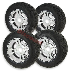 Set of 4 Wheels for ATV Shineray Quad 200cc ST-6A