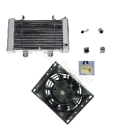 Radiator + Adapter Kit + Fan for ATV Shineray Racing Quad 250cc STIXE