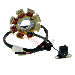Stator for Chinese Scooter 50cc 4 stroke (4 cables)