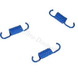 Set of 3 Blue Clutch Springs for Chinese Scooter BT49QT-9 - Medium Springs
