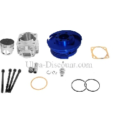 Head Kit 53cc - 4 transfer ports - 10mm axle (type C) - Blue
