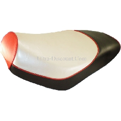 Seat for Chinese Scooter - Black-Red