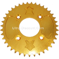 39 Tooth Rear Sprocket - Aluminum Core (type 1 - 420) - Gold