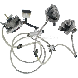 Complete Hydraulic Brake System for ATV Shineray Quad 300cc STE