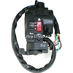Left Switch Assembly for ATV Bashan Quad 200cc (BS200S-3A)