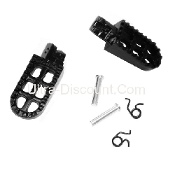 Custom Steel Made Foot Pegs for Dirt Bike - Black