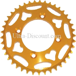 41 Tooth Rear Sprocket - Aluminum Core (type 3 - 420) - Gold