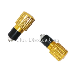 Custom Handlebar End Plugs (type 6) - Gold